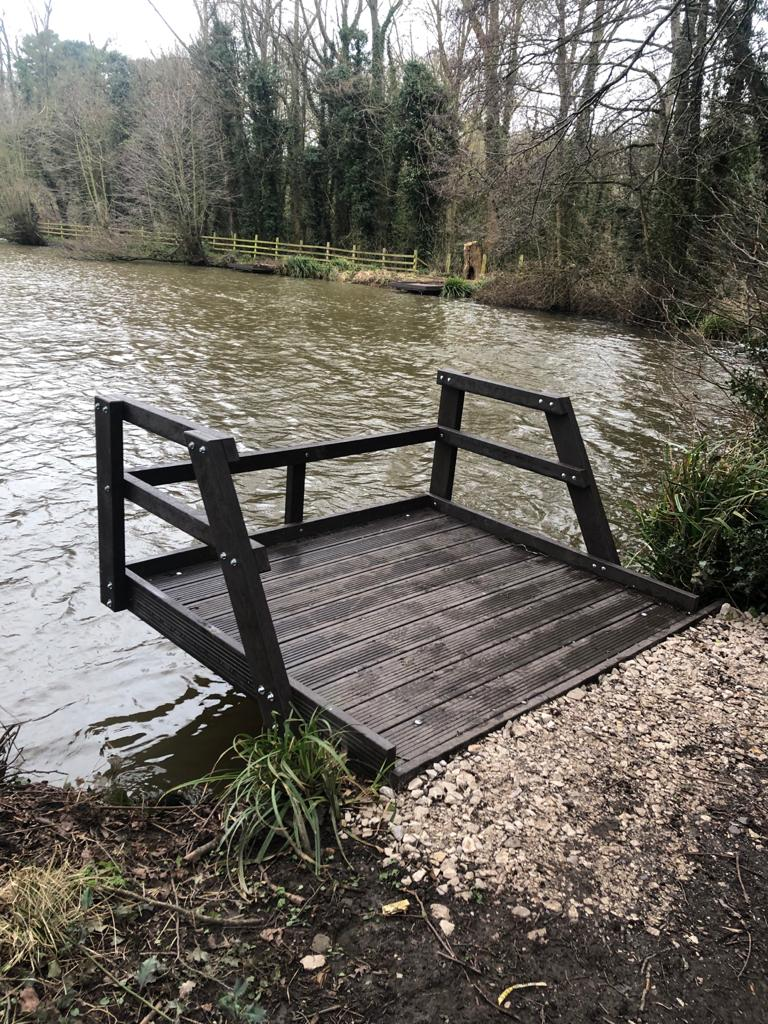 Recycled Plastic Fishing Platform with Fencing